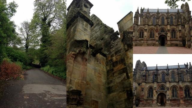 La chapelle de Roslyn, plus connue depuis le Da Vinci Code.