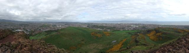 La ville depuis le haut de Arthur's seat