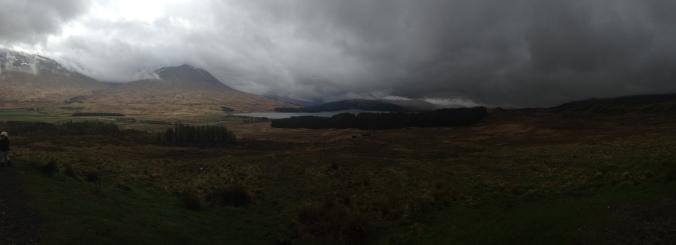 Paysage tourmenté de highland