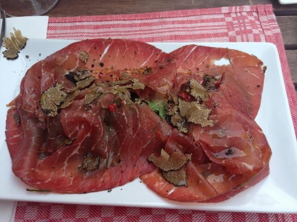 Bresaola + truffe truffe et truffe