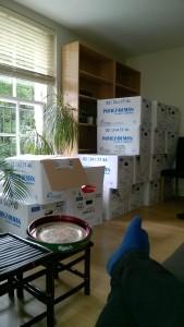Un beau tas de cartons - après